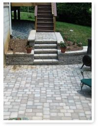 paved walkway with steps