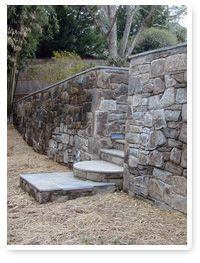 stone wall with steps