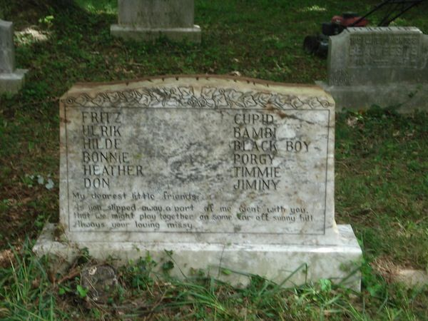 old damaged gravestone