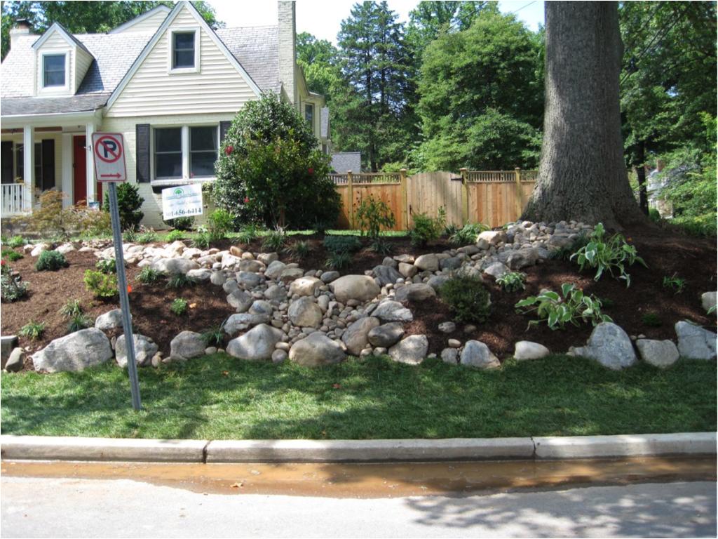 A stone path to prevent erosion