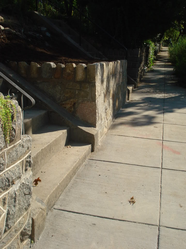 stone wall with stairs