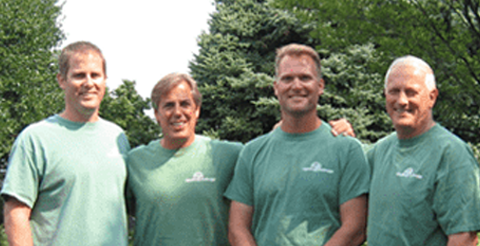 Johnson's Landscaping workers