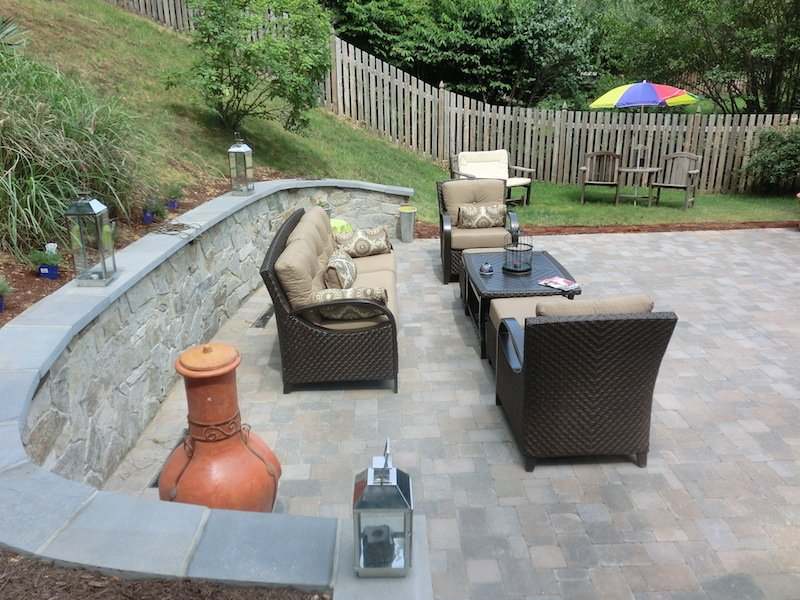Patio with furniture