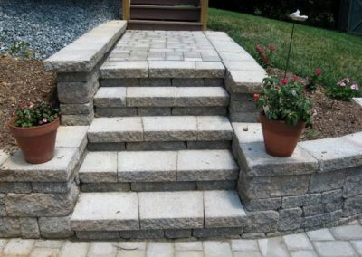 Stone paved steps and walkway