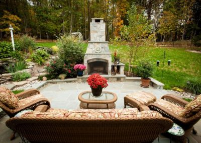 Germantown, MD Patio, Fireplace, & Water Feature