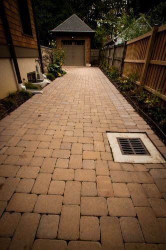 drainage solution on a stone yard