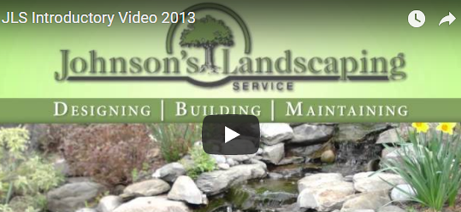 Johnson's Landcaping video
