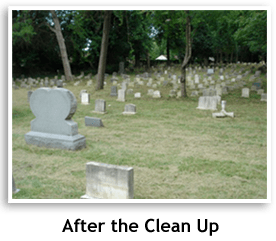 After photo of the cleaned up cemetary