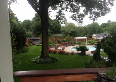 Backyard Lawn, Plantings, & Pool Deck