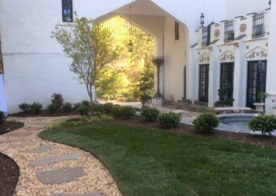 Plantings, Lawn, & Path
