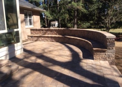 Segmental Walls with backing & Paver Patio