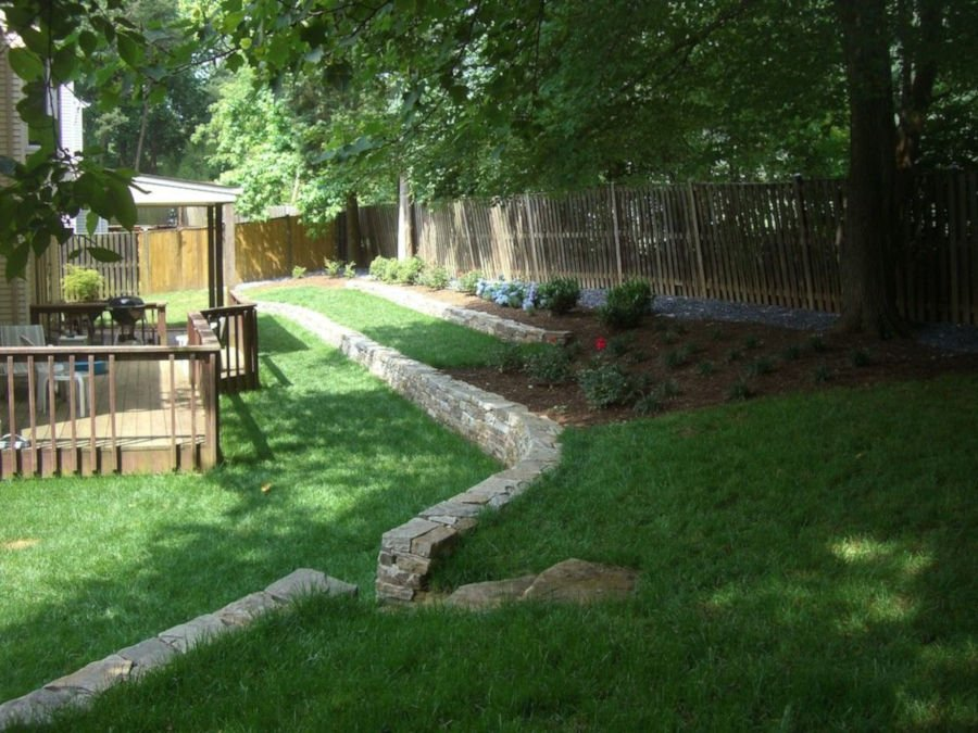 backyard landscape maintenance
